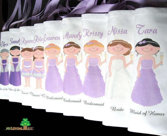 Bridesmaid Tote Bags Personalized Bridesmaids Gifts Bags Spring