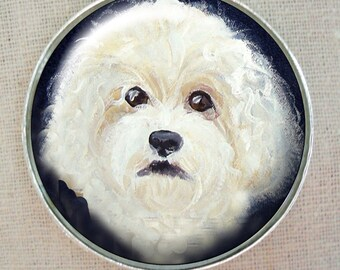 Bichon Frise Keychain ~ May Birthday Gift ~ Ready to Ship ~ Pet Accessories ~ Office Gifts ~ Pet Keepsake ~