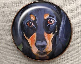 Dachshund  Keychain ~ Hard to Buy For ~ May Birthday ~ Teckel Keychain  ~  Doxie Keychain ~ Dad Gift ~ Doxie Portrait ~ Pet Keepsake