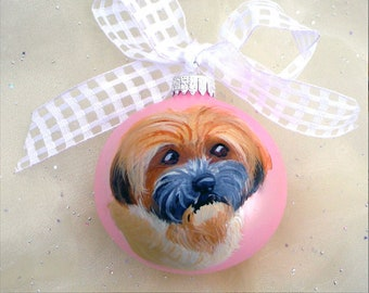 Reserve Listing for Juli ~ Custom Hand Painted Pet Ornament ~ Dog Ornament ~ Dog Dad Gift ~ Custom Gift ~ Pet Keepsake