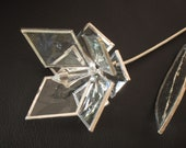 Flower Bevel Glass Stained Glass Flower Wedding Proposal 3D Love   8p