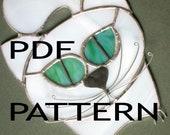 PDF Pattern for Stained Glass - Cat Sun Catcher - FleetingStillness Original Design