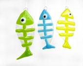 Fish Sun Catcher Ornament Fused Glass Sun Catcher Window Hanging