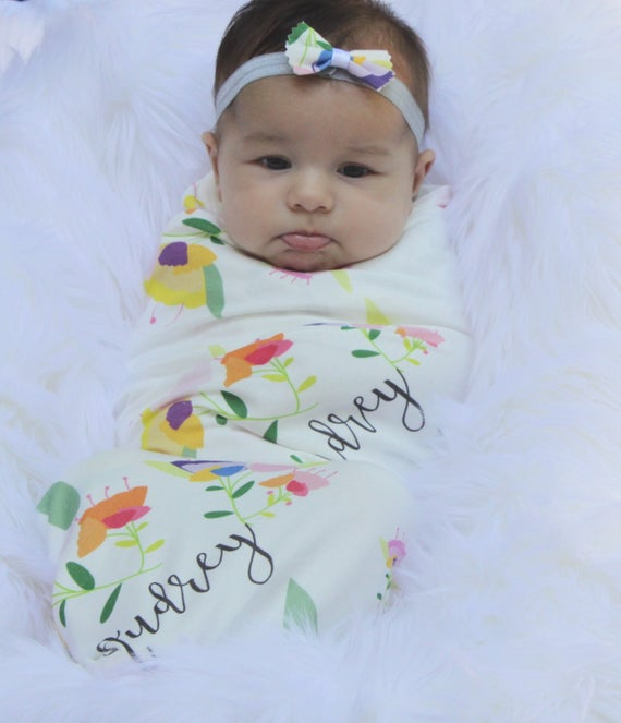 f96ed94f55d Personalized Baby Blanket Monogrammed Receiving Blanket with