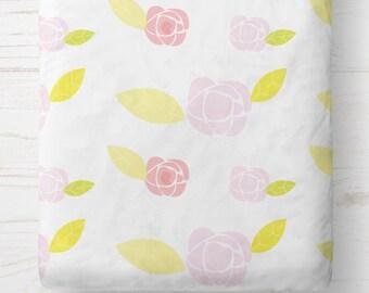 Crib Sheets Fitted - Crib Sheets Girl - Crib Sheet Floral - Fitted crib sheet - Crib Bedding - Crib Bedding Girl -Baby Bedding-New Baby Gift