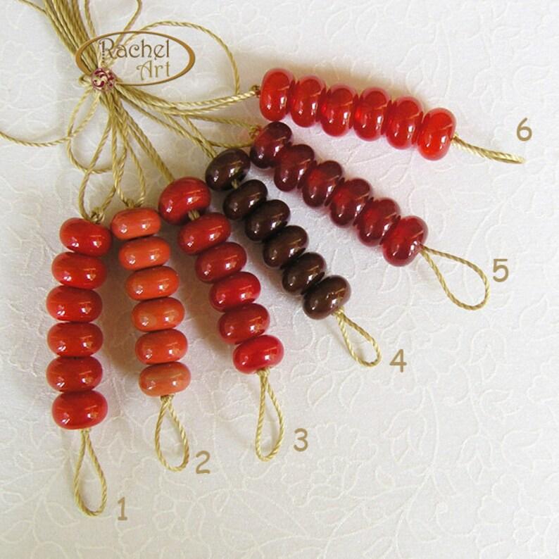 Red Lampwork Glass Spacer Beads Rachelcartglass Handmade Glass Beads
