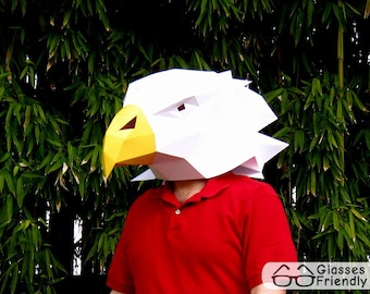 Eagle Mask - Make Your Own Animal Mask with just Paper and Glue! | Paper Mask | DIY Mask | Mascot | Halloween Mask
