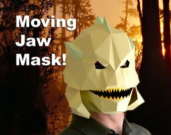 Creature from the Black Lagoon Mask with Moving Jaw! - Halloween Mask Pattern | DIY Paper Mask | DIY Mask | Fish Man Mask