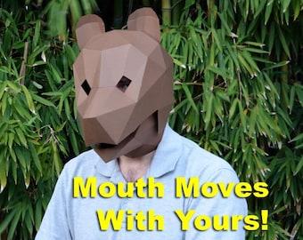 Animal Mask : Bear Mask with Moving Jaw! | Halloween Mask | Printable Mask | Paper Mask | Papercraft