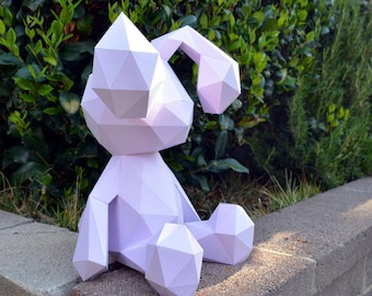 Craft Kits for Adults: Bunny Rabbit Figurine PDF Download | diy craft kit for adult building kits