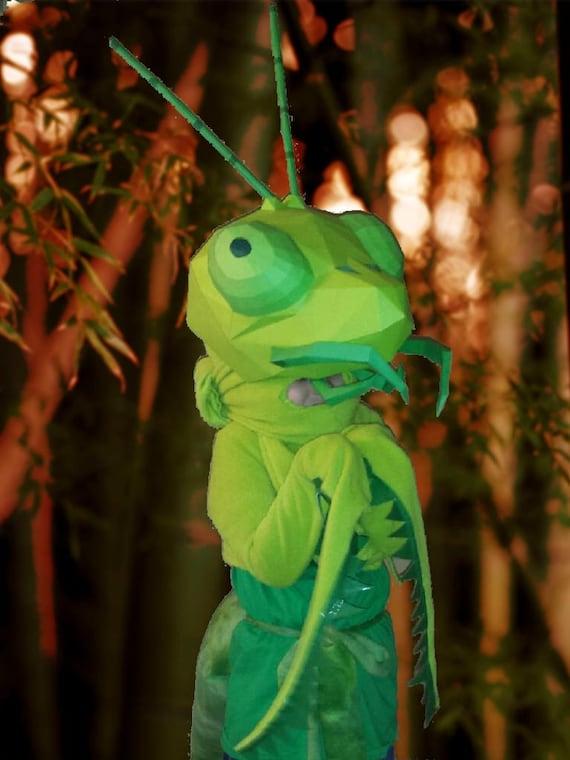 Praying Mantis Mask Paper Pattern Halloween Mask Diy Mask Paper Craft Mask Cricut Svg