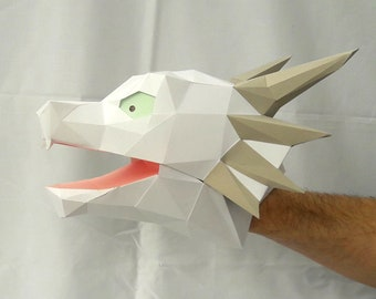 Hand Puppet Pattern: Baby Dragon - Build Your Own Paper Dragon! Monster Puppet | Paper Puppet | Papercraft | Dungeons and Dragons