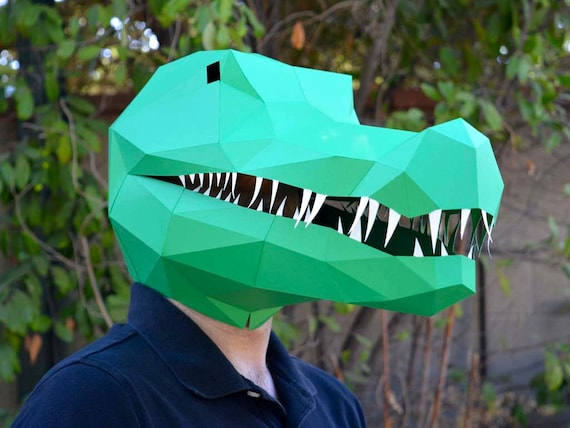 Crocodile Mask / Alligator Mask Papercraft Template Animal | Etsy