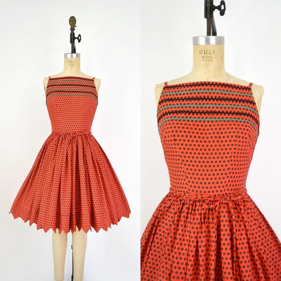 Vintage 1950s Sundress - 50s Mam'selle Betty Carol