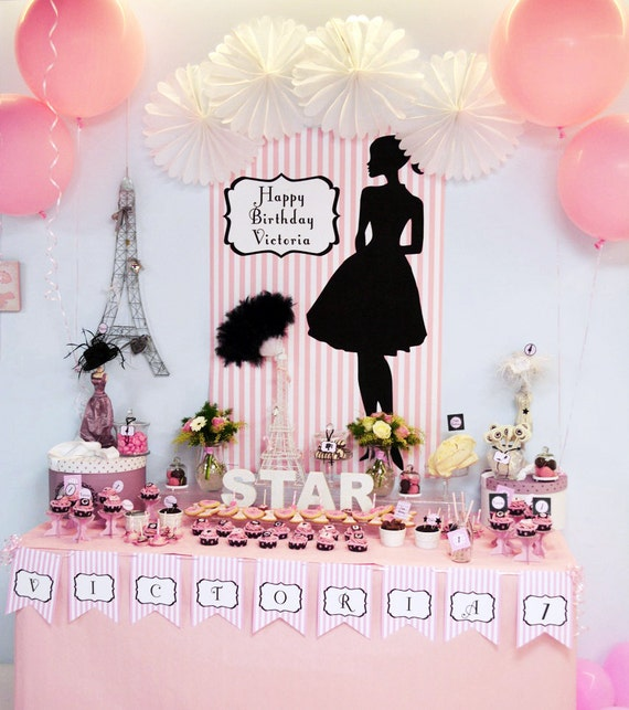 Fashion Doll Party Backdrop Design Jpg File Personalized Birthday