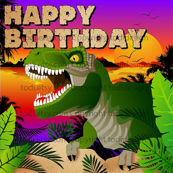 Jungle Dinosaur Backdrop Design Birthday Party Backdrop Jpg Etsy