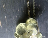 Round Sedum Rosette Necklace Botanical Jewelry Nature Cast Ready to Ship
