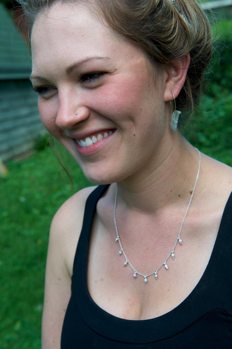 Sourwood Seedpod Necklace  Botanical Jewelry  Nature Cast image 0