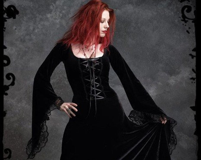 Angelique Corset-Laced Romantic Gothic Wedding Dress