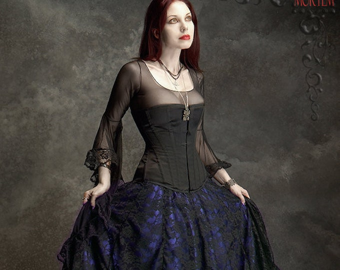 Cordelia Layered Long Bustle Skirt