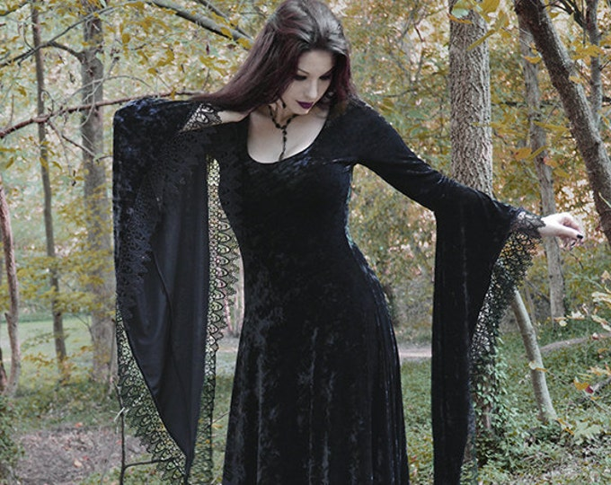 Sorrena Fairy Tale Vampire Romantic Gothic Velvet Dress