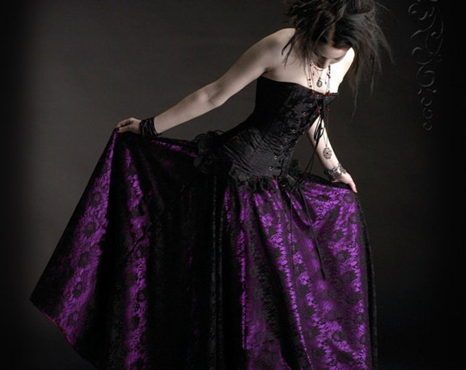 Acanthe Gothic Romantic Lace and Satin Skirt