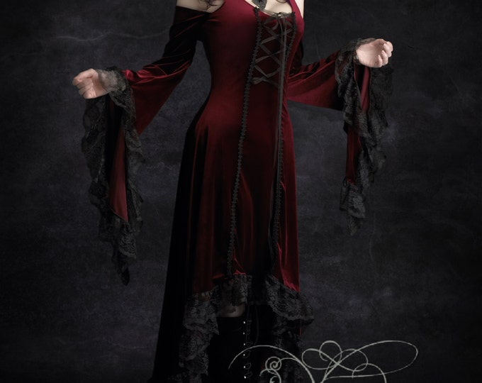 Elisa Romantic Gothic Velvet Dress