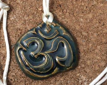 Om Aromatherapy Essential Oil or Perfume Diffuser Ceramic Pendant