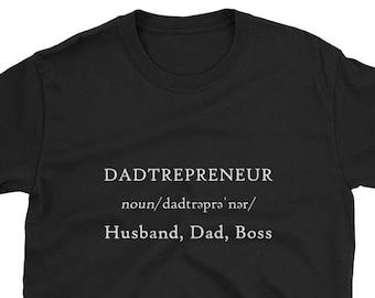 d1d1e5e3c Dadtrepreneur Husband Dad Boss Definition Shirt Entrepreneur Small Business  Owner Fathers Day Side Hustle Joke Work Super Family Man Gift