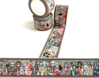 Washi tape - The Dolly Collector -Decorative 30mm Washi Tape roll by Mab Graves