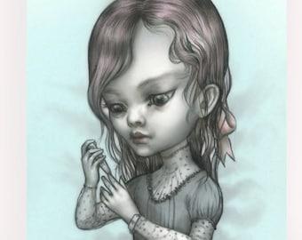 Tallulah Checks Her Sugar - Diabetes awareness - Mab's Drawlloween Club 5 x 7 Mini Art Print by Mab Graves  - Vampire