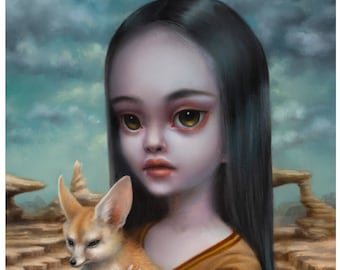 The Eremologists Daughter -  Limited Edition signed and numbered 8x10 pop surrealism Fine Art Print by Mab Graves