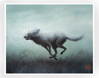 Dire Wolf - signed Open Edition signed 8x10 -Fine Art Print by Mab Graves