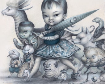 The Yokai Parade -Limited Edition- Signed-Fine art Print by - Mab Graves -unframed