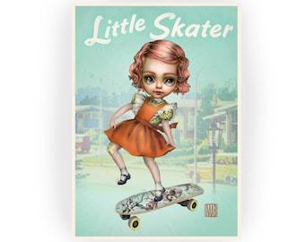 Little Skater 5 x 7 Mini Art Print by Mab Graves