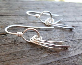Sterling Silver Paddle Earrings with Handmade Gift pouch