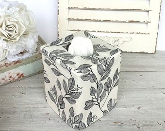 Fall Leaves on a vine reversible tissue box cover