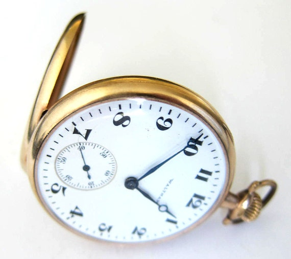 how to open a hampden pocket watch