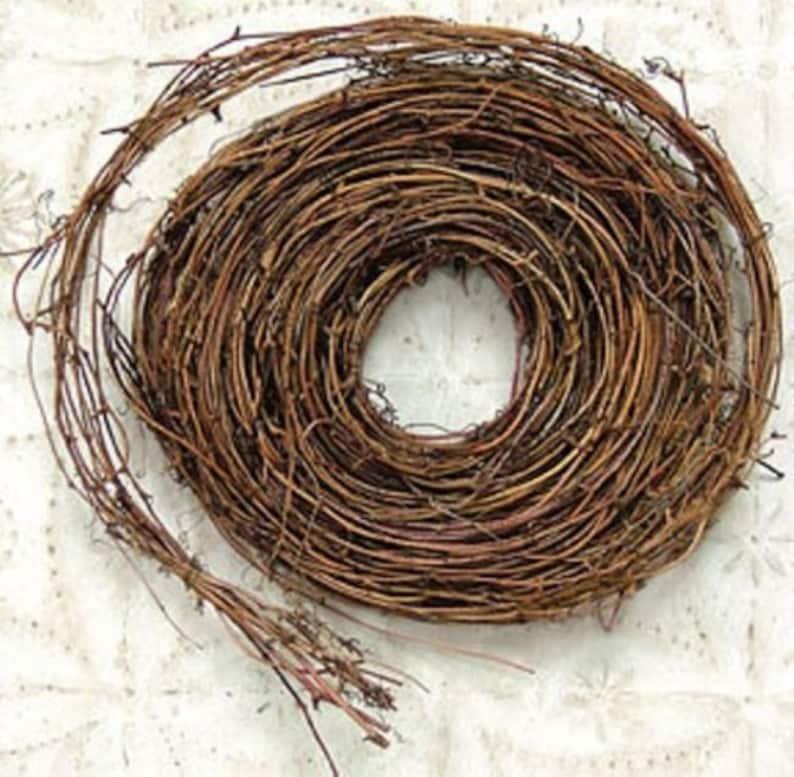 One 15' Thin Twig Grapevine Garland Wedding Rustic image 0