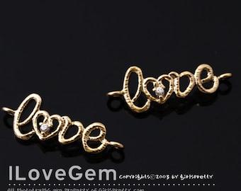 SALE/ 10pcs / NP-1488 Gold plated, Love, Pendant
