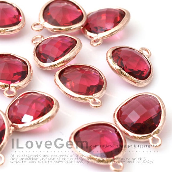 April Diamond Glass Birth 12X17mm Glass pendant Framed Glass drop Framed faceted glass stone Clear SALE 10pcs P2760 Rose Gold