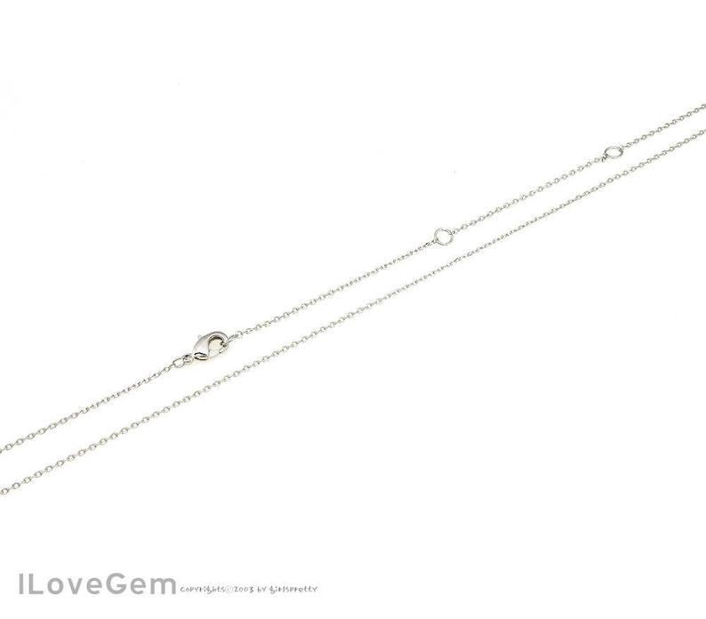 Dainty Chain 16-18-20 inch chains WSALE 20pcs NP-1993 Rhodium plated Thin chain 16-18-20 Necklace Chains 230 Diamond Cut chain
