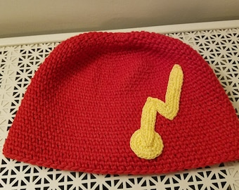 The Flash hat in adult large, ready to ship