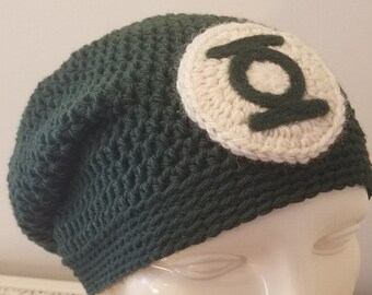 Green Lantern hat - adult regular, slouchy style, ready to ship