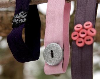 the ponies- girlie girl set of three ponytail holder/bracelets