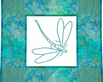DARING DRAGONFLY - Hand Embroidery E-Pattern Printable Download Pdf Diy Simple Free Shipping Easy to Do Shabby Chic Home Decor Nature Insect