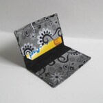 Business Card Holder. Credit Card Holder. Transit Card Holder. Bus Pass Holder. ID Card Holder - Gray with Black and Silver Swirls