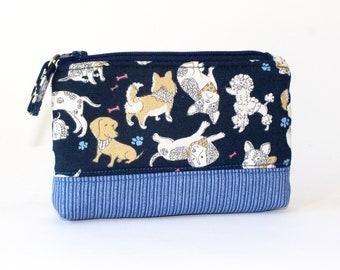 Pluto dog handmade zipper fabric coin change purse card holder