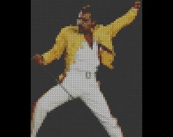Freddie Mercury Cross Stitch Pattern #3