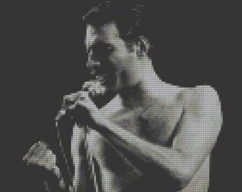 Freddie Mercury Cross Stitch Pattern #2